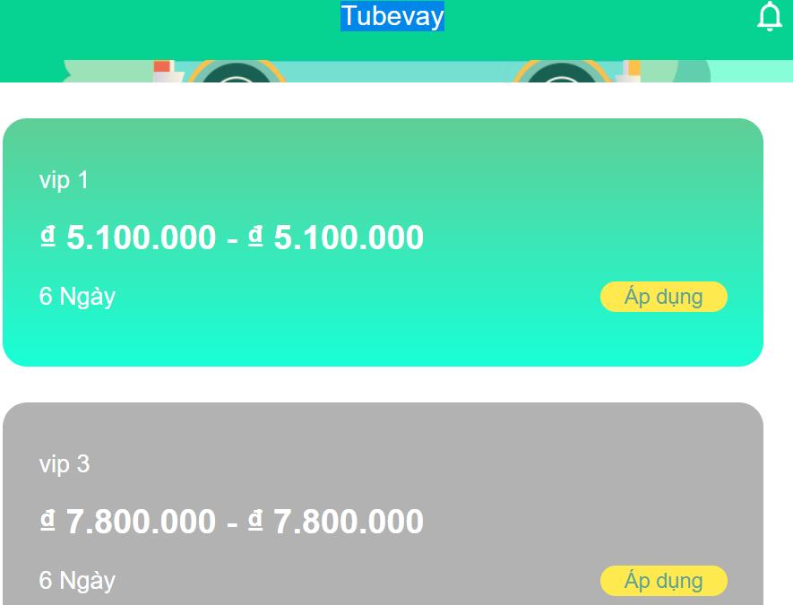 Vay tiền Tubevay