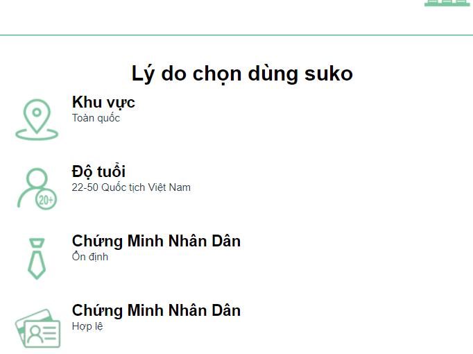 Giao diện của website suko.vn